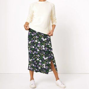 M&S Collection Floral Split Front Midi Skirt